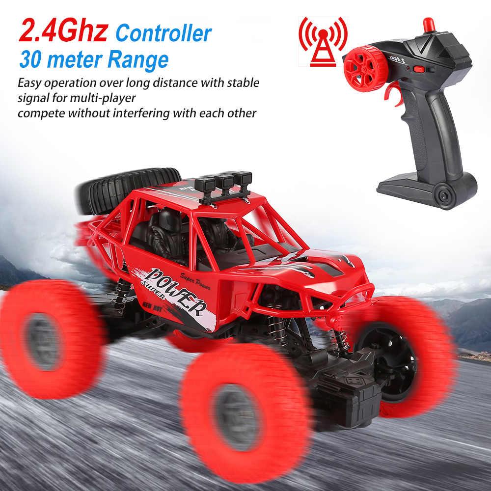 新しい 1:18 Rc カー 2.4 グラムラジオリモートコントロールトラック Rc スタントカークローラオフロードクライミング車ショートのコースのレースのおもちゃ