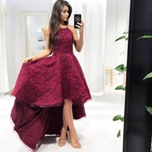 Sexy Party Gala Dress Plus Size African Arabic Burgundy Short Prom Evening Dresses Gown 2019