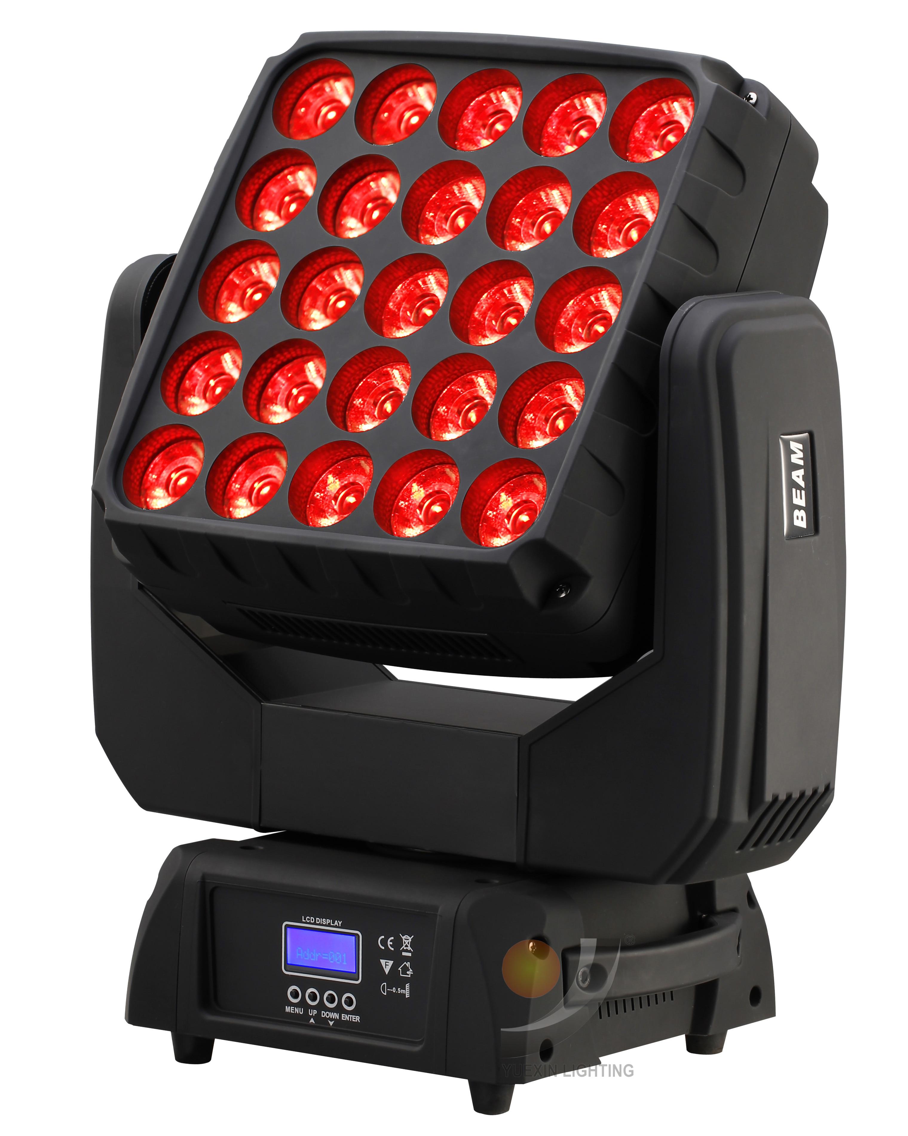 25x15 Вт Матричный светодиодный прожектор с поворотной головкой для DJ Disco