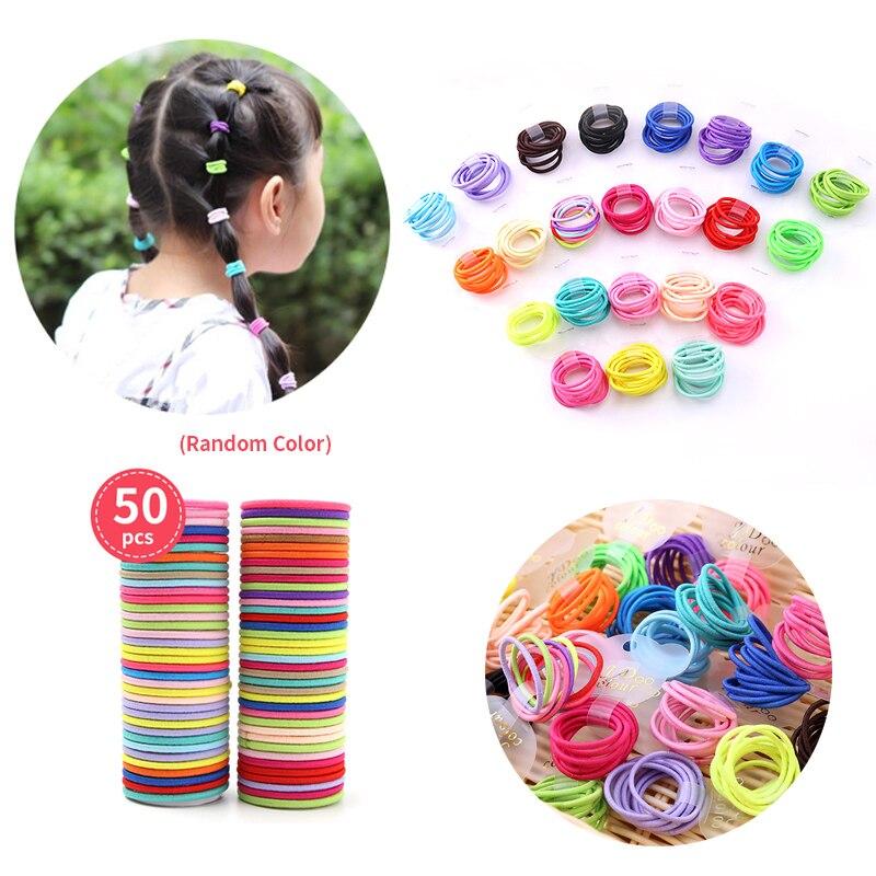 Elastic Women Female DIY Hair Band Scrunchies Hair Tie Fashion Girls Gum Rope Decorations Children Headbands Headwear 2021