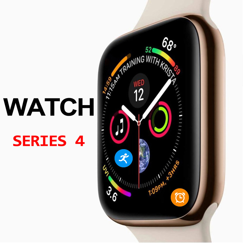 50% off Smart Uhr Serie 4 Smartwatch Fall für Apple iPhone X 8 7 6 <font><b>Android</b></font> Smart telefon herz rate monitor pedometor smartwatch image