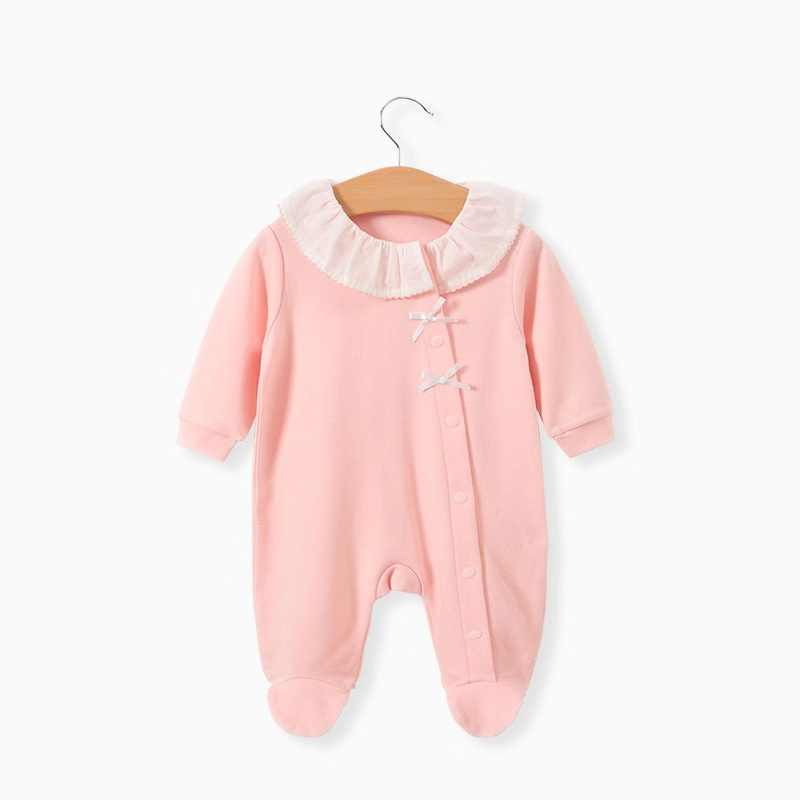 Princess Style Newborn Baby Girl Clothes Bow Jumpsuit Cute Infant Girls Rompers Long Sleeve Clothing Set