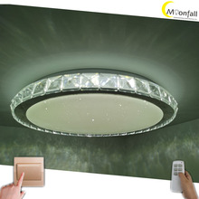 Moonfall-LED ceiling light 36W 72W Remote Control light Modern&Simple design lamp with crystal and star  for bedroom, inside