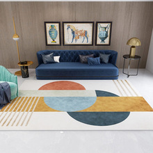 Nordic Carpet And Rug For Living Room Bedroom Geometry Pattern Large Area Rug Velvet Tea Coffee Table Decorative Floor Mat Dywan