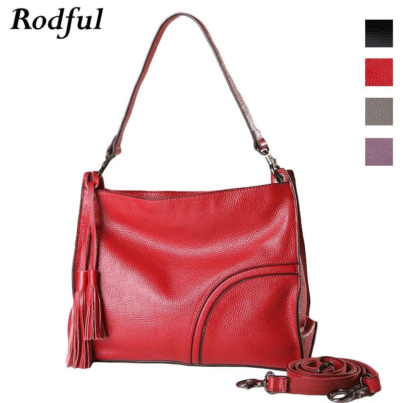 Bagaj ve Çantalar'ten Üstten Saplı Çanta'de Omuz çantaları kadın çanta hakiki deri tote el çantası bayanlar kadın messenger omuzdan askili çanta kadın siyah kırmızı mor gri'da  Grup 1