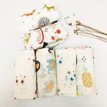 Пеленальное Одеяло из муслина хлопок детские пеленки мягкие одеяла для новорожденных банные Марля Детские спальные принадлежности чехол для коляски игровой коврик