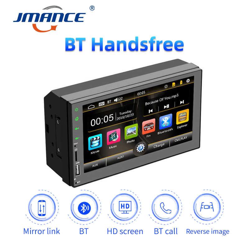 "JMANCE radyo 2 din araba multimedya oynatıcı 7 ""Autoradio 2din Stereo Android Mirrorlink Volkswagen Nissan Hyundai Kia Toyota"