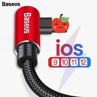 Baseus 90 Grad USB Kabel Für iPhone 11 Pro Max Schnelle Lade Datenkabel Handy Kabel Für iPhone XS max XR 8 7 6 6s 5 iPad