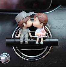 Carro perfume ventilação ar condicionado ventilação perfume clipe de aromaterapia decoração do carro bonito criativo sólido perfume casal presente