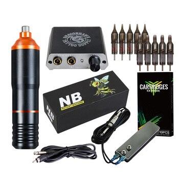 цена на Professional Tattoo Kit Rotary Machine Guns Needles Beginner Kit Set Tattoo Power Supply