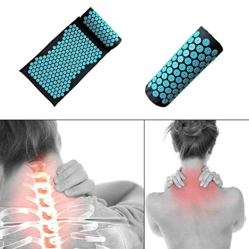 Coussin de Massage d'acupuncture oreiller soulager la douleur au Stress tapis de Yoga coussin corps dos douleur musculaire Lotus Spike Pad tapis d'acupuncture