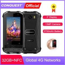 CONQUEST Mini Phone F2 IP68 Waterproof Rugged Smartphone Mob