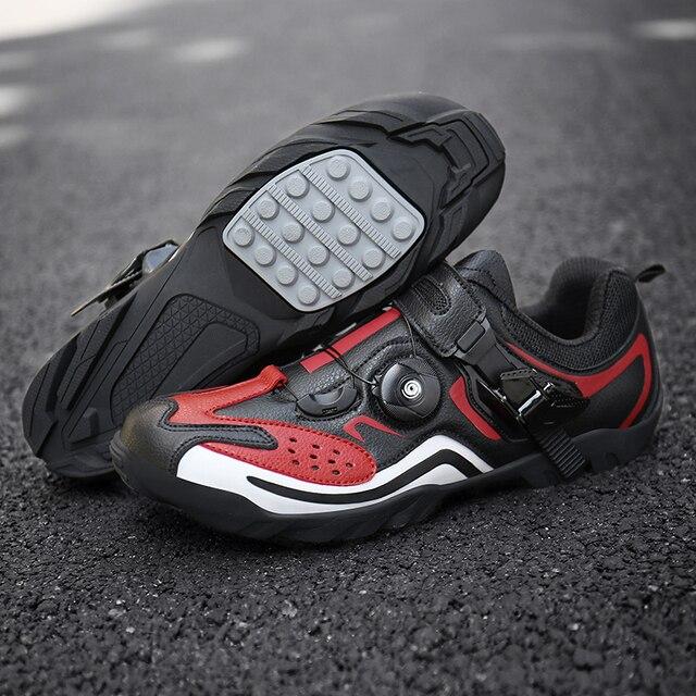 Sapatos masculinos para ciclismo de estrada, calçados para bicicleta de montanha, mtb, mountain bike, tênis de corrida triathlon 2
