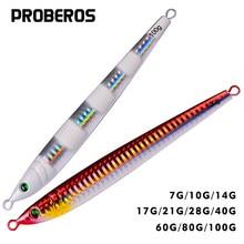 Джиг PROBEROS, свинцовые приманки 7 г-100 г/13,5 см-14,5 см, металлическая джиг, приманка для рыбалки, 5 цветов, рыболовная приманка
