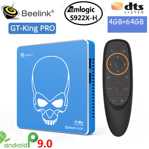 Beelink GT rey PRO Android 9,0 S922X-H Quad-core Dispositivo de TV inteligente 4G + 64G ROM 2,4G/5,8G WIFI USB 3,0 Blutooth4.1 HDMI tv box player