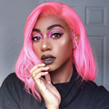 Цветной парик из натуральных волос 13х6  прямые  черные  150  блонд  Remy
