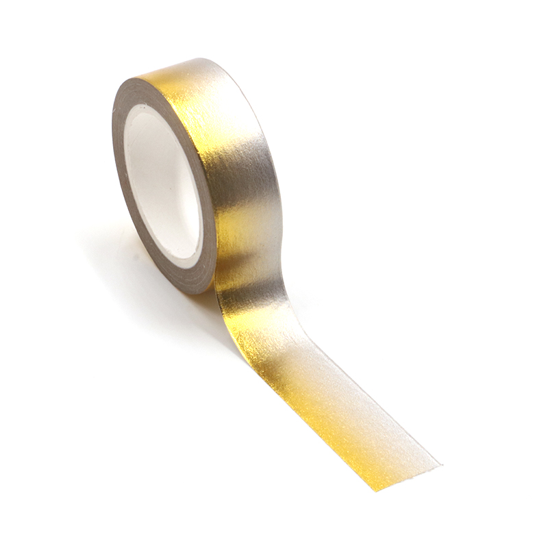 New 1PC Gold Foil Grey Washi Tape Japanese Rice Paper DIY Planner Scrapbooking Adhesive Masking Tape 1.5cm*10m Stationery