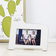 Vintage Style European Wooden Photo Frame Rustic 6 Inch Photo Lovely Cat Decorative Wood Picture Frame Home & Office Decoration success style polyresin photo frame 4 x 6 picture