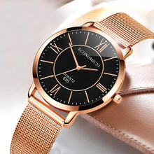 Luxury Women Watches Scale Dial Ladies Quartz Wristwatch Rose Gold Mesh Belt Strap Fashion Gift Clock Party Reloj Mujer 533(China)