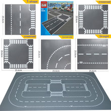 City Road Street Baseplate DIY Building Blocks Bricks Base Plate Compatible All Brands city table 7280 Toys For Children