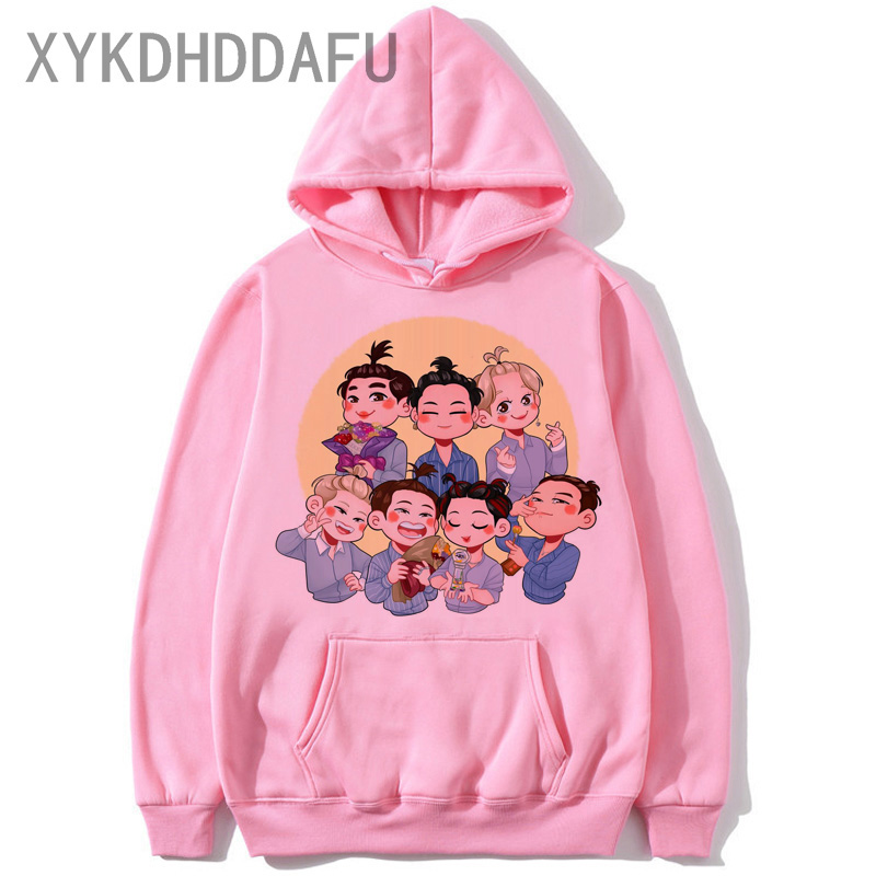 GOT7 Hip Hop 2020 Hoodie Women Harajuku Sweatshirt Korean Style Pink Clothing Jackson Female/Male Hood Streetwear