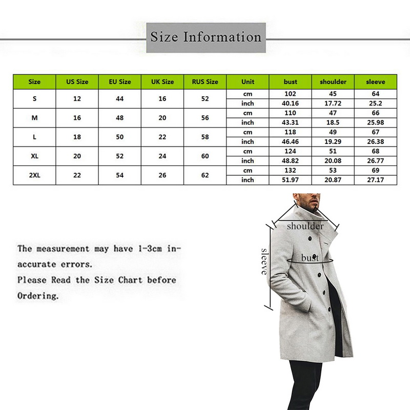 H26edfdaf7b074302a9a97eb85409f3d5D HEFLASHOR Mens Trench Coat 2019 Fashion Designer Long Windbreaker Autumn Winter Single Breasted Windproof Overcoat Plus Size