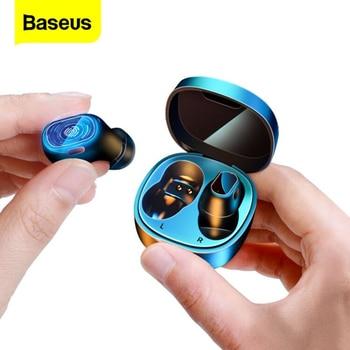 Baseus WM01 Mini TWS bezprzewodowe słuchawki Bluetooth słuchawki 5.0 prawdziwe bezprzewodowe wkładki douszne zestaw głośnomówiący do telefonu Xiaomi Ear Buds
