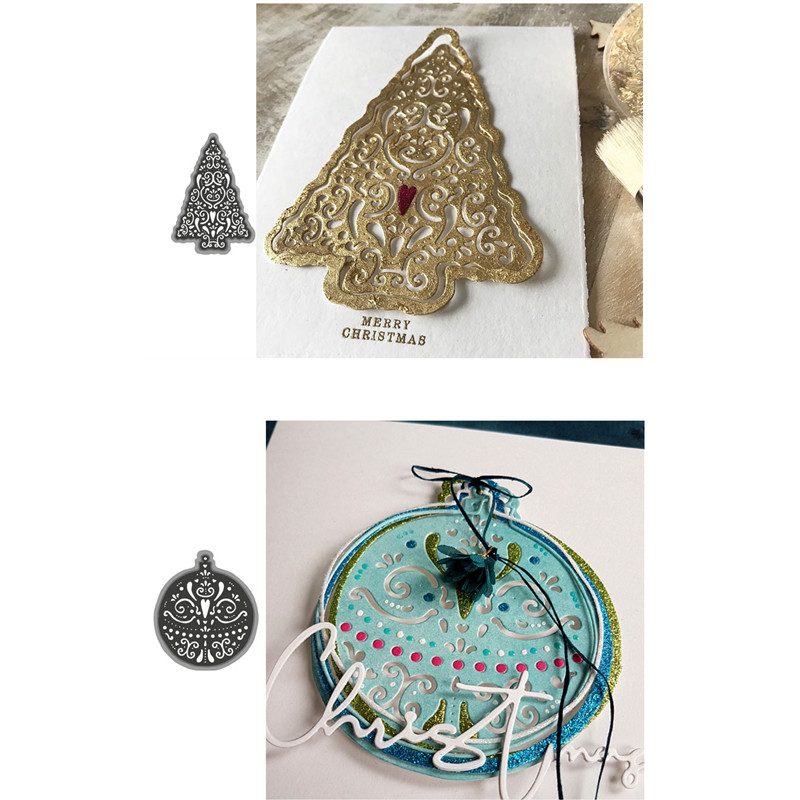 Metal Steel Cutting Dies Merry Christmas Tree Circle Frame For DIY Scrapbooking Paper/photo/Album Cards Embossing New 2019
