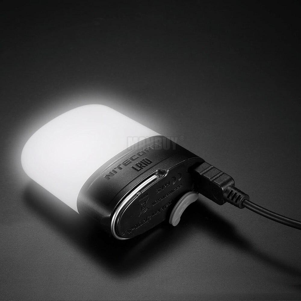 Top Sales NITECORE LR10 250 Lumen 9xLED CRI Photography Lights USB Rechargeable Outdoor Camp Ultra Compact Multi-Purpose Lantern