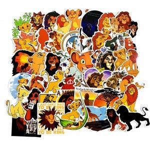 50 шт./упак. лев Король Simba животные мультфильм наклейки для мотоцикла ноутбук багаж скейтборд Pegatinas гитара наклейки на велосипед