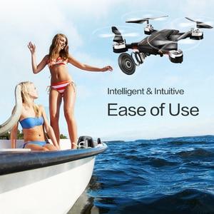 Image 3 - 新しいインテリジェント折りたたみ rc ドローン高 hd 無線 lan カメラ 360 回転 fpv quadcopter 安定したジンバルヘッドレスプロ dron