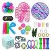 Ice Cream Pop Game Fidget Toys Rainbow Push Toy Bubble Popper Fidget Sensory Toys For Parent-child Time Interactive Game Toy