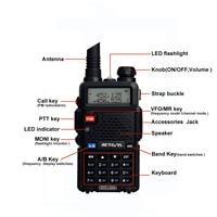 ווקי טוקי RETEVIS RT5R Handy מכשיר הקשר 5W VHF UHF VOX FM Ham חובב רדיו תחנת שני הדרך רדיו משדר ווקי טוקי לציד (3)
