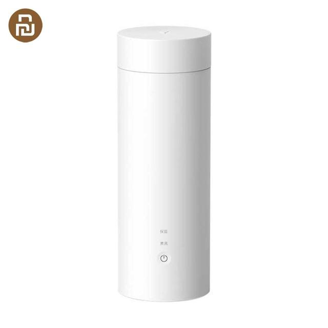 Youpin Viomiสมาร์ทไฟฟ้าถ้วย 400MLมินิแบบพกพาถ้วยความร้อนฉนวนกันความร้อนสแตนเลสThermosขวดไฟฟ้าถ้วยท่องเที่ยว