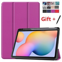 S6-Lite-Case Case-Cover Tri-Fold Galaxy Tab Samsung with Pen-Holder Compatible Lite-10.4inch