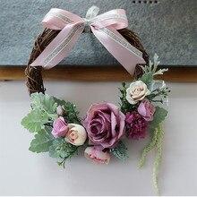 4 шт./упак. декоративный венок из искусственных цветов, Рождественский день Гирлянда Свадебные украшения дома цветок праздничные аксессуары