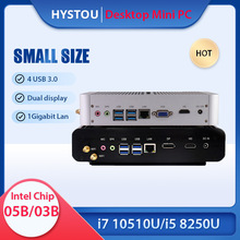 Intel Core i5 8259U 7267U Mini PC i7 10510U 8565U Kaby See Fanless Computer Windows 10 Pro Barebone Desktop TV