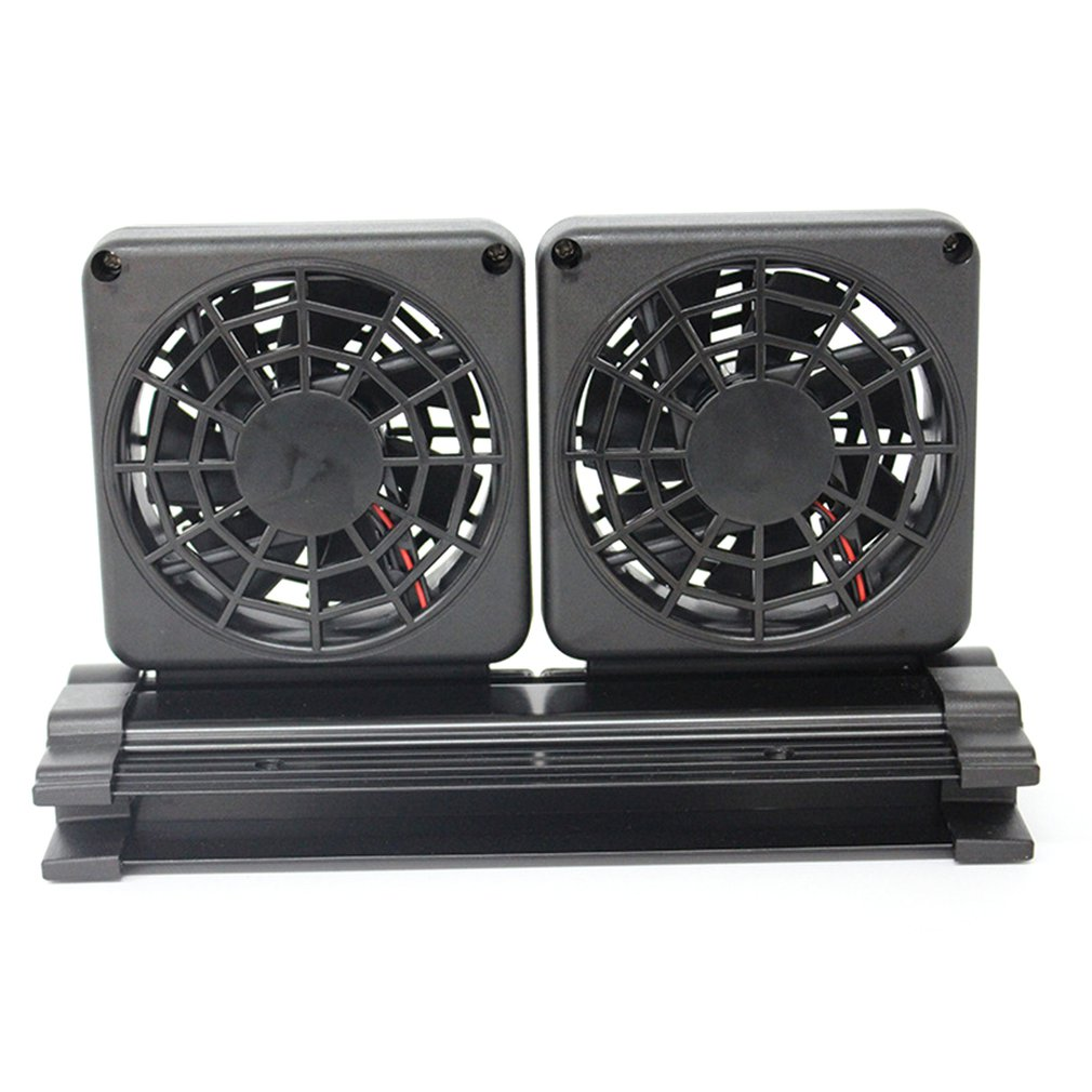 1/2 Fans Adjustable Aquarium Cooling Fan For Fish Tank Water Cooling Air Cooler Temperature Controller Single/Double Head