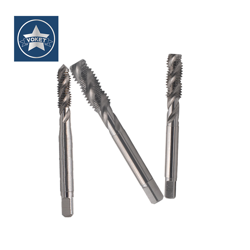 VOKET HSSE Right Hand Fine Thread Sprial Fluted tap UNF 1/4- 24 28 32 36 5/16- 24 32 40 UNS 1/4-40 American Screw Thread taps