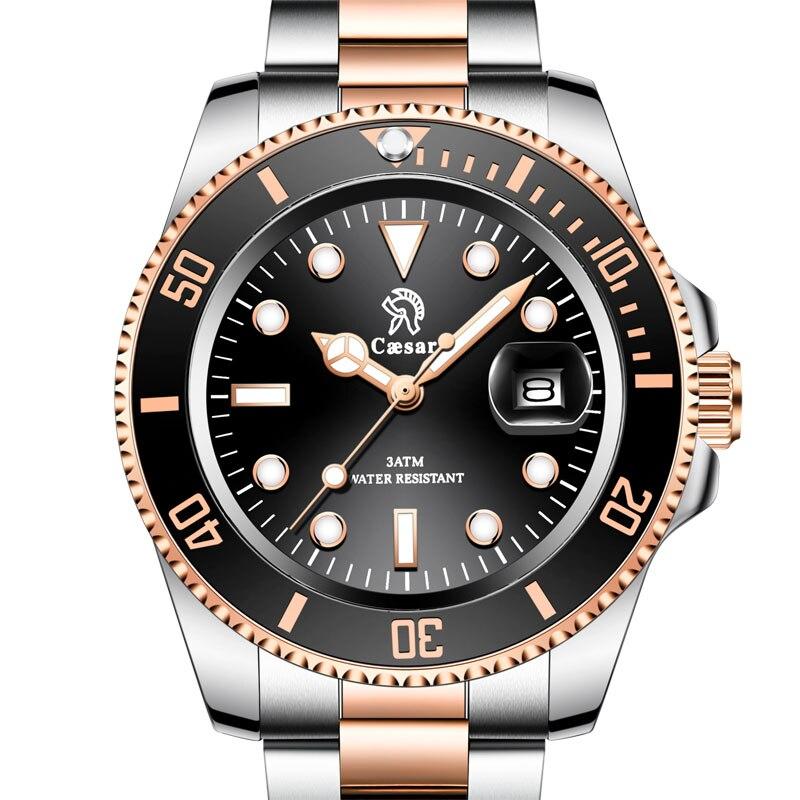 Rose Gold Caesar Fashion Aaa Mens Women Japanese Quartz  Ladies Wrist Man Watch Watches Top Brand Luxury Montre Wristwatch Men