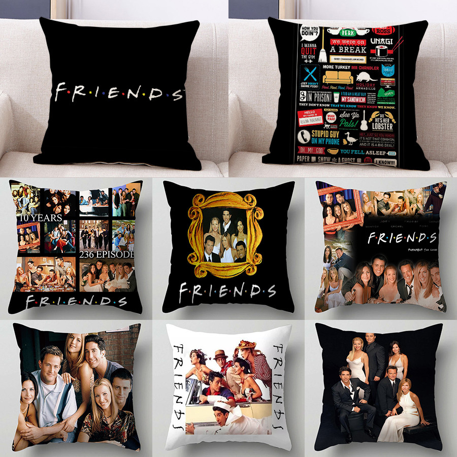 1PC 45*45cm Popular TV Friends Print Cushion Cover Pillow Sofa Car Bed Sofa Pillow Case Bedroom Decoration Pillow Cover