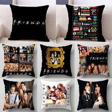 1PC 45*45cm Popular TV amigos cubierta de cojín estampada almohada sofá cama para coche sofá funda de almohada para dormitorio Decoración Para funda de almohada
