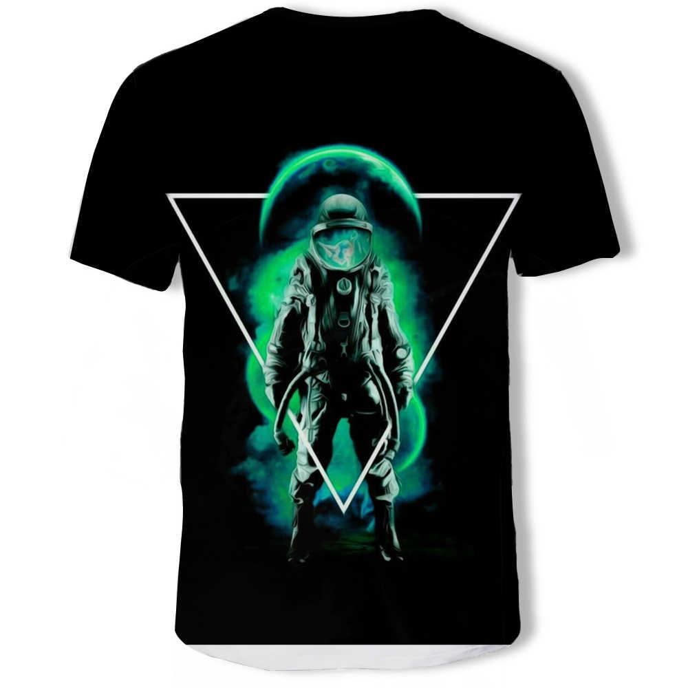 Desaparecer Coube T-shirt Camisa Dos Homens T Tshirts do DIA de ANO NOVO de Aniversário Tecido de Algodão Tees Impressão Astronauta Roupas de Qualidade Superior Preto