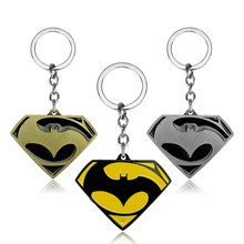 Batman V Superman Catena Chiave Dawn Of Justice Moda Portachiavi Chaveiro Gioielli Key Holder Accessori di Souvenir Regalo per Ventole(China)