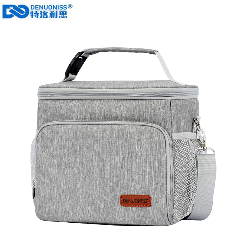 DENUONISS Portable Lunch Bag Waterproof Tote Cooler Handbag Insulated Thermal Bag For Food  Bento Pouch Dinner Container