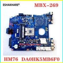 Apto para sony SVE151 MBX-269 SVE1512 Laptop Motherboard Mainboard DA0HK5MB6F0 HM76 A1892854A A1892855A 100% trabalho de teste