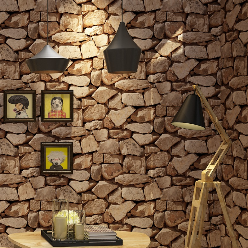 3D Retro Stone Pattern Stones Marble Wallpaper Living Room Wall Bar Restaurant Coffee Shop Wallpaper