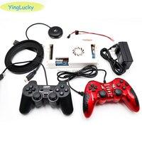 140 Pcs 3D games Pandora 2448 Retro video games PCB Board + 2 pcs Gamepad + USB splitter + HDMI Cable + power adapter switch set