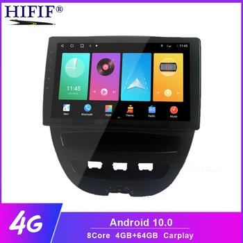 Android 10 samochodowy odtwarzacz multimedialny 2 Din dla Peugeot 107 Toyota Aygo Citroen C1 2005-2014 jednostka główna Stereo nawigacja GPS BT WIFI tanie i dobre opinie HIFIF CN (pochodzenie) podwójne złącze DIN 10 1 45*4 JPEG 1024*600 Tuner radiowy Wbudowany GPs Odtwarzacze mp3 Telefon komórkowy
