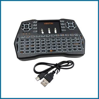 Three Language Keyboard 2.4G Wireless Keyboard Russian Spanish English Version For PC Android TV Raspberry Pi for Orange Pi